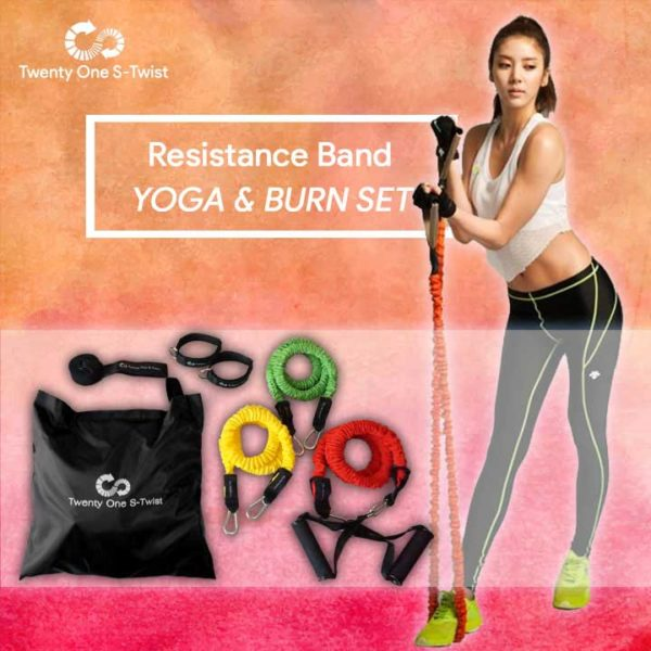 resistance tube yoga and burn